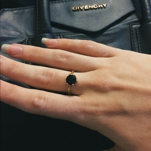 Obsidian Stacking Ring Bundle